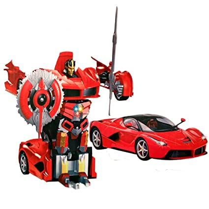 VSHINE 1:14 Remote Control One Touch Deformation Transformer Car   Autobot    Model LaFerrari