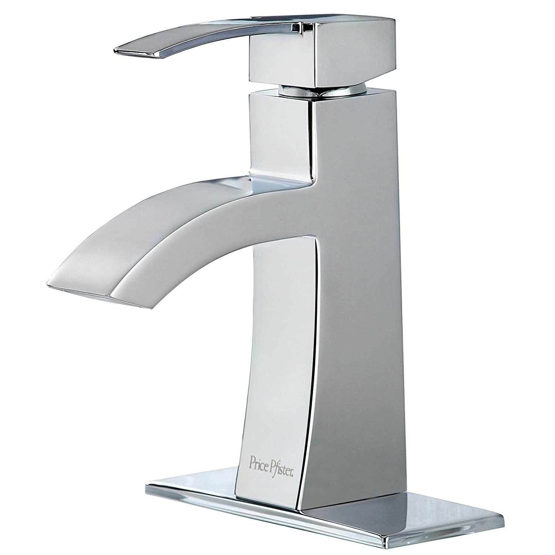 pfister bernini 1 handle 4 centerset bathroom faucet polished - Pfister Faucets