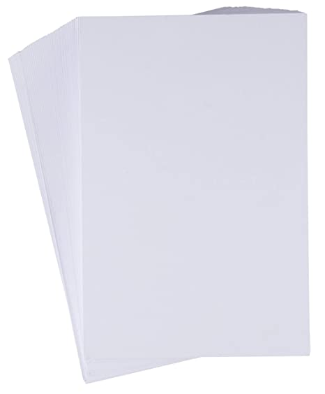 Amazon.com: Index Cards – Paquete de 200 cartulinas blancas ...