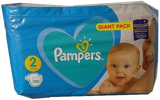 100 pañales Pampers NEWBORNS, talla 2, 4-8 kg, algodón suave y con ...