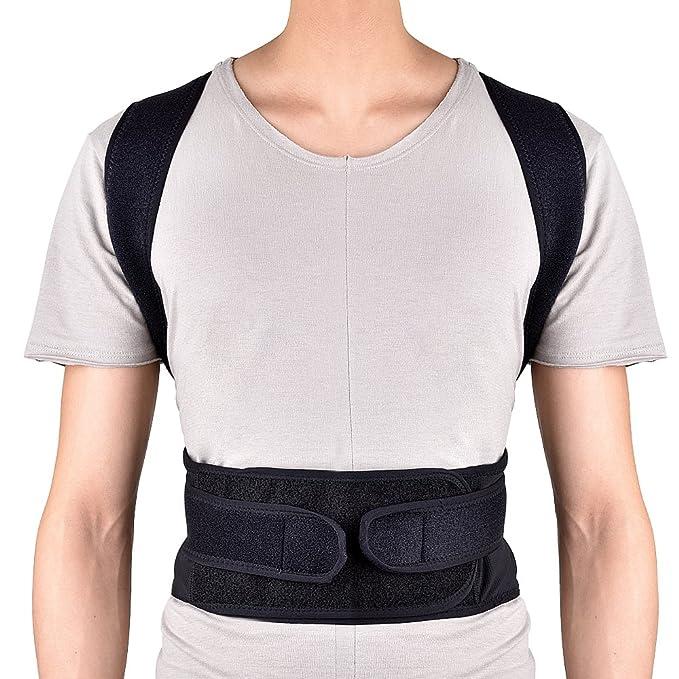 HailiCare Corrector de Postura para Espalda Transpirable y ajustable Soporte de Espalda para Corregir Postura Hombros y Espalda y Alivio del Dolor Mujer y ...