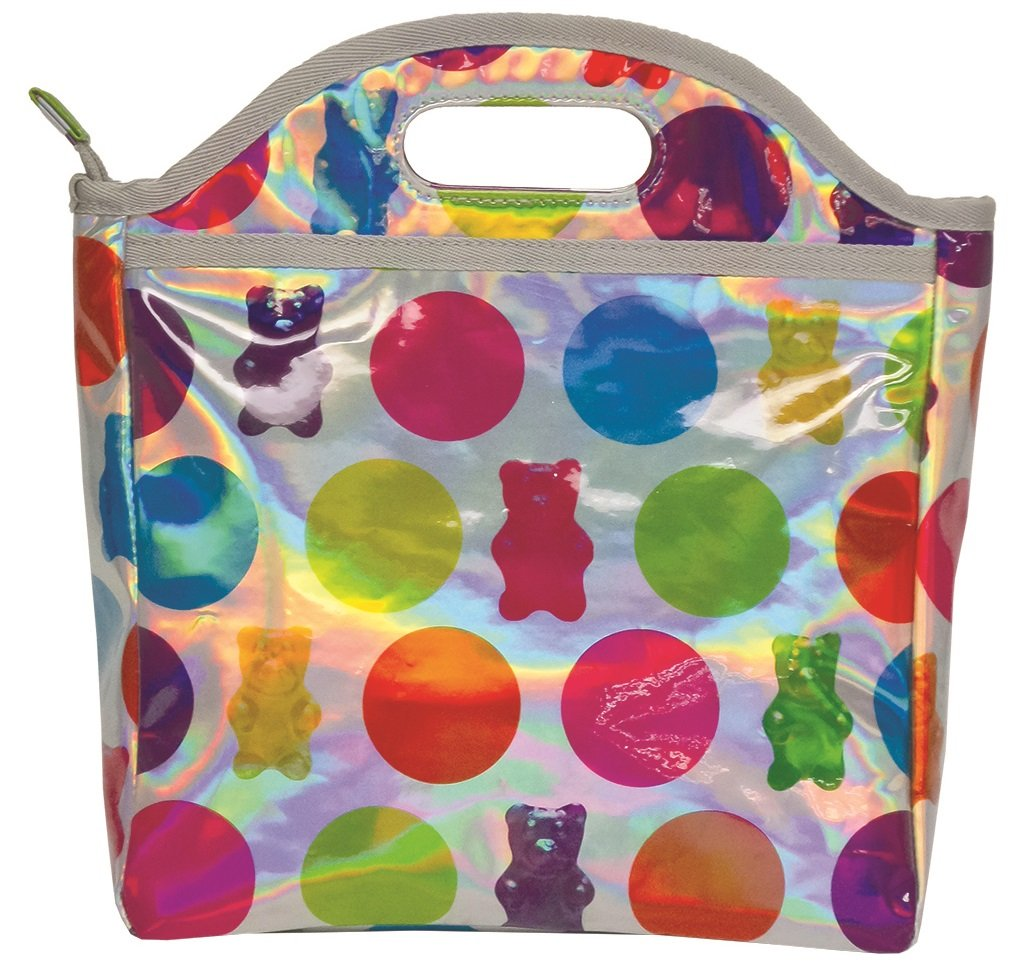Easy Clean Lined Insulated Lunch Tote The Mines Press Inc iscream Holographic Emoji Party Easy Carry 810-693