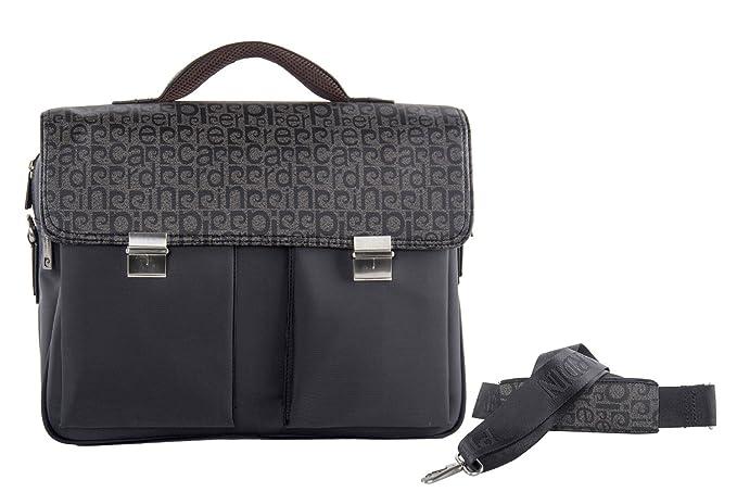 987b36907a Cartella professionale 2 comparti PIERRE CARDIN taupe borsa ufficio porta  PCVH34: Amazon.it: Abbigliamento