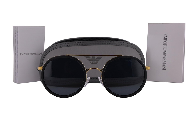 19cec729f09c Emporio Armani EA2041 Sunglasses Matte Pale Gold Black w Gray Lens 300287 EA  2041  Amazon.ca  Clothing   Accessories