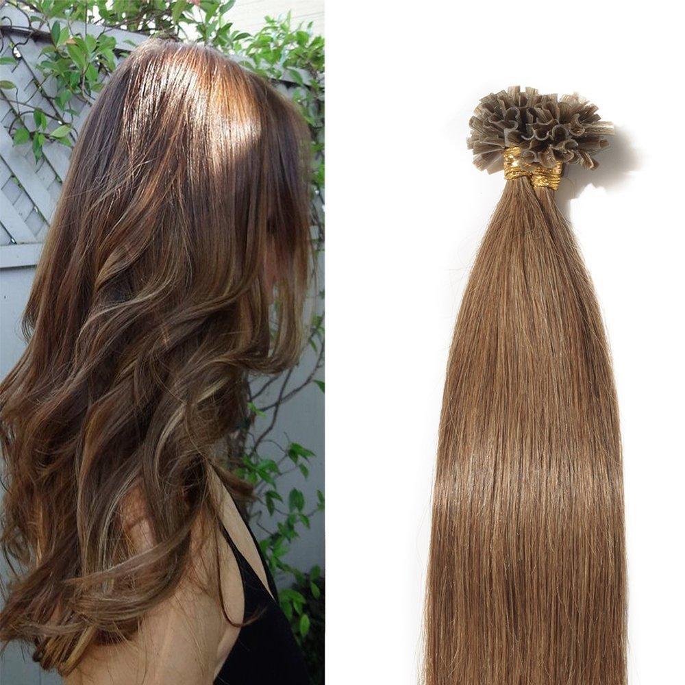 Amazon U Tip Hair Extensions Human Hair Keratin Bonding 100