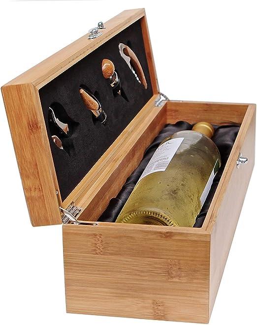 Compra Case Elegance - Caja de Madera de Regalo para Botellas y ...