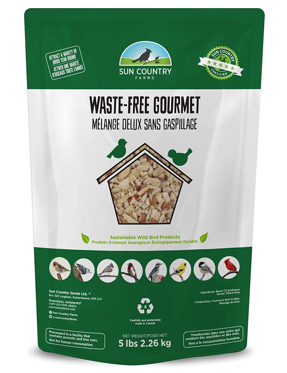 Waste-Free Gourmet Bird Seed Sun Country Farms