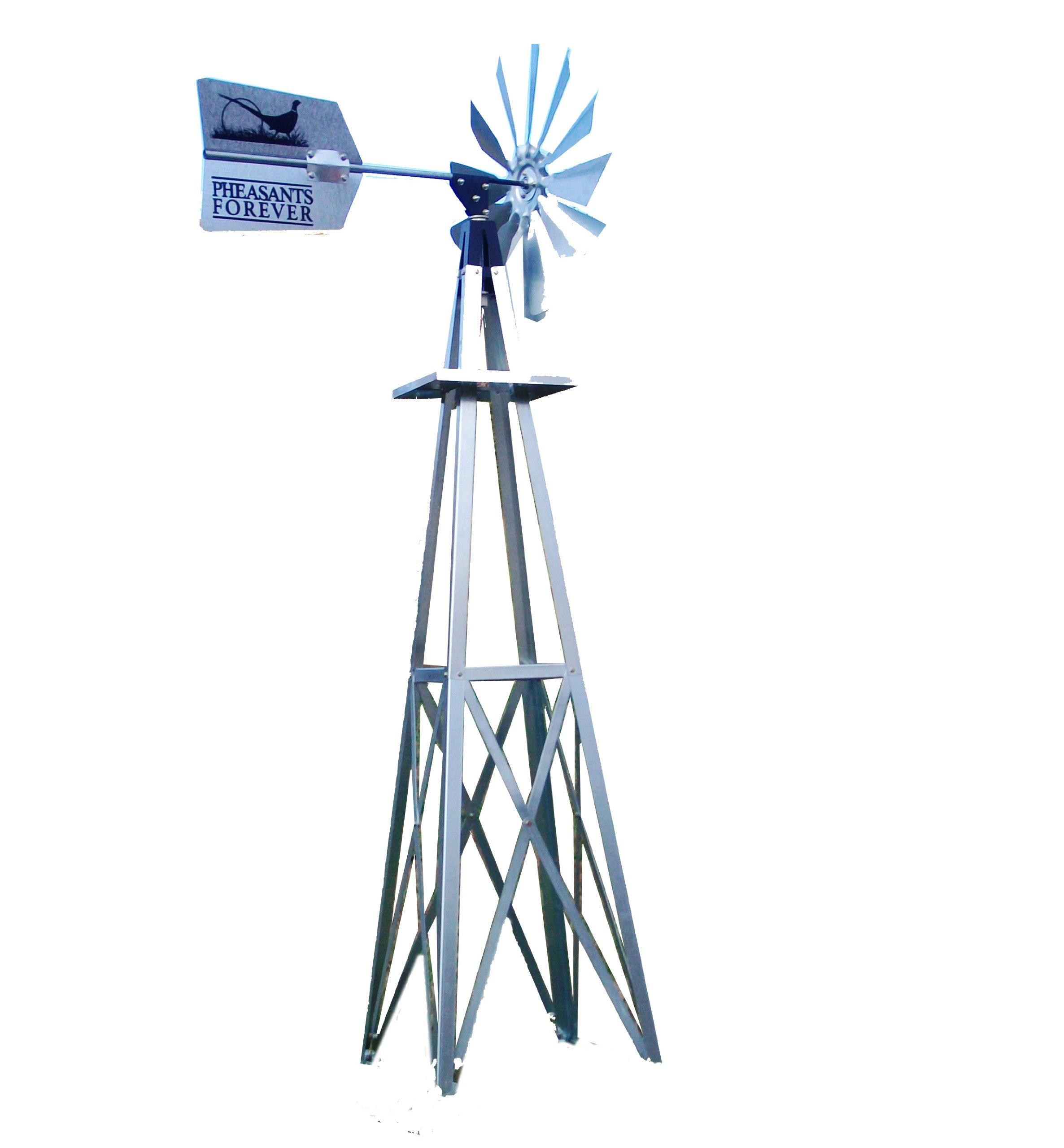 Outdoor Water Solutions BYW0117 Small Pheasants Forever Galvanized Backyard Windmill by Outdoor Water Solutions