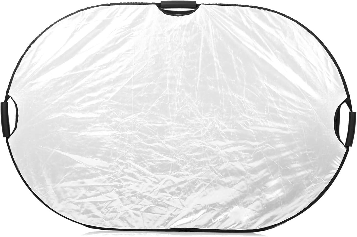 Selens 5 in 1 80x120cm Oval Licht Reflektor Faltreflektor mit Griff Fotostudio Beleuchtung Outdoor-Fotografie Schwarz Wei/ß Gold Silber Transluzent