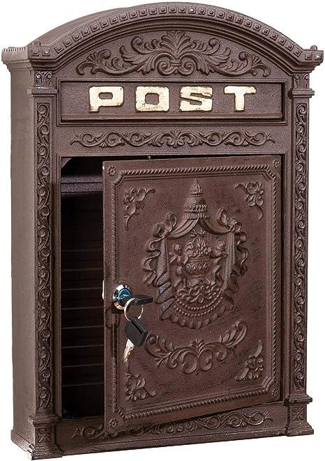 Briefkasten Antik Handarbeit Zeitungsrolle Rostfrei Vintage Retro Postkasten
