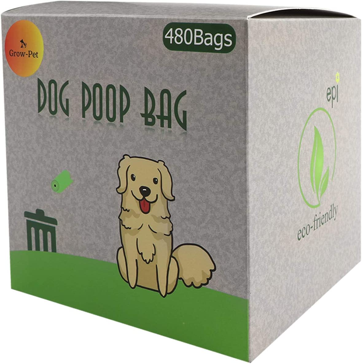Heavy Duty EPI Biodegradable Grow-Pet Enhanced Dog Waste Bags Eco-Friendly