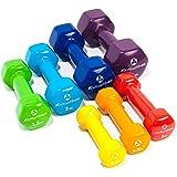 2er-Set Hanteln 0,5kg, 0,75kg, 1kg, 1,5kg, 2kg, 3kg & 4kg / rutschfeste & griffige Vinyloberfläche »Hexagon« Kurzhanteln (Aerobic-Gewichte) in verschiedenen Gewichts- und Farbvarianten. Das Hantelset besteht aus 100% Eisen - Die Gewichte bzw. das Kurzhantel-Set eignen sich für Gymnastik, Fitnesstraining, Physiosport & Heimtraiing. Das Hantelpaar ist schön griffig, einfach zu reinigen & resistenz gegen Schweiß & Feuchtigkeit