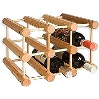 Ahşap 9 Şişelik Şarap Saklama Standı