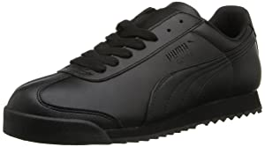 PUMA Women's Roma Basic Sneaker,Black/Black,7.5 B US