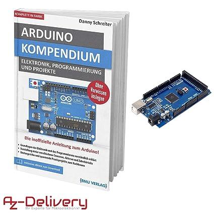 AZDelivery Mega 2560 R3 Board con ATmega2560, 100% Compatible con ...