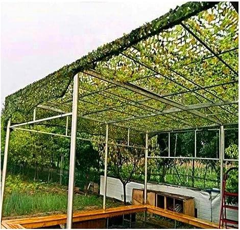 Red de Camuflaje 3x2m 3x5m Protector Solar Jardín Malla de Camuflaje Verde Malla de Sombra for la Militar Caza Disparar Balcón Protección Privacidad Cubierta Cubierta Decoración Toldos Vela, 4m 6m 8m: Amazon.es: