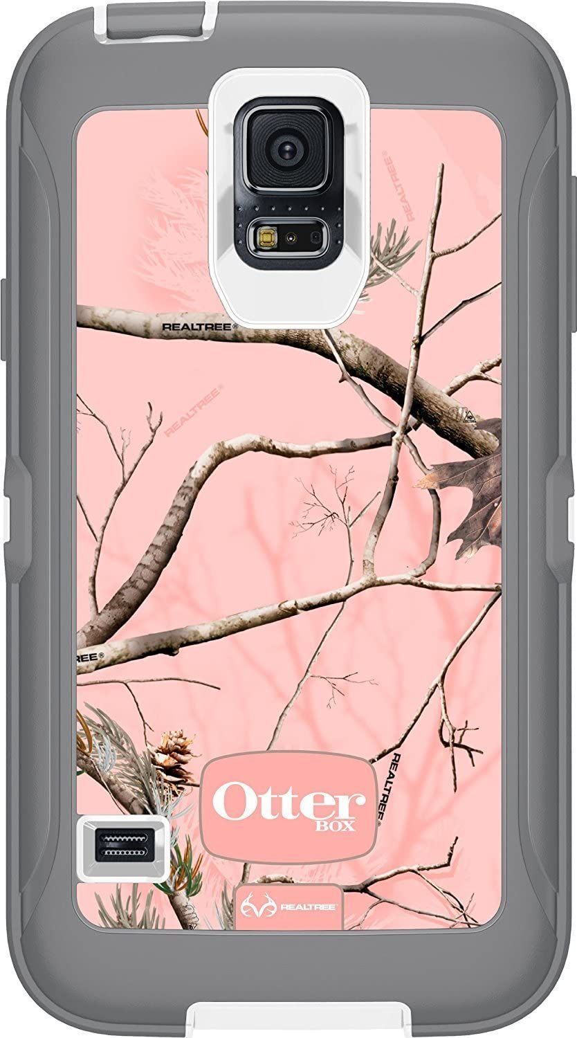Otterbox [Defender Series] Samsung Galaxy S5 Case - Retail Packaging Protective Case for Galaxy S5- Ap Pink (White/Gunmetal Grey Ap Pink)
