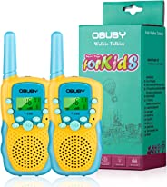 Obuby Walkie Talkies for Kids, 22 Channels 2 Way Radio Kid Toy Gift 3 KMs Long Range with Backlit LCD Flashlight Best Gifts