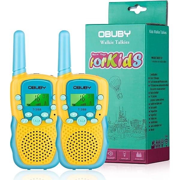 Outdoor Toys For 6 8 Year Old Boys Walkie Talkies Kids 3KM Range Camp D Black