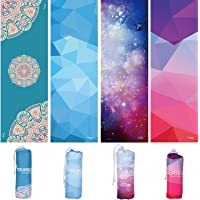 """SYOURSELF Yoga & Hand Towel-72""""x 24"""", 24"""" x 15""""- Non Slip, Ultra Absorbent, Soft-Perfect Microfiber Skidless Bikram Hot Yoga Mat Towel for Fitness Exercise Sports& Outdoors + Travel Bag"""