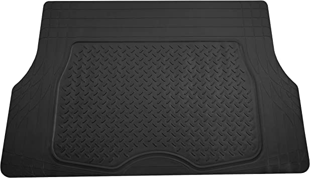 Premium Quality Trimmable Cargo Mat//Trunk Liner FH Group F16401BLACK Black Trimmable Cargo Mat//Trunk Liner
