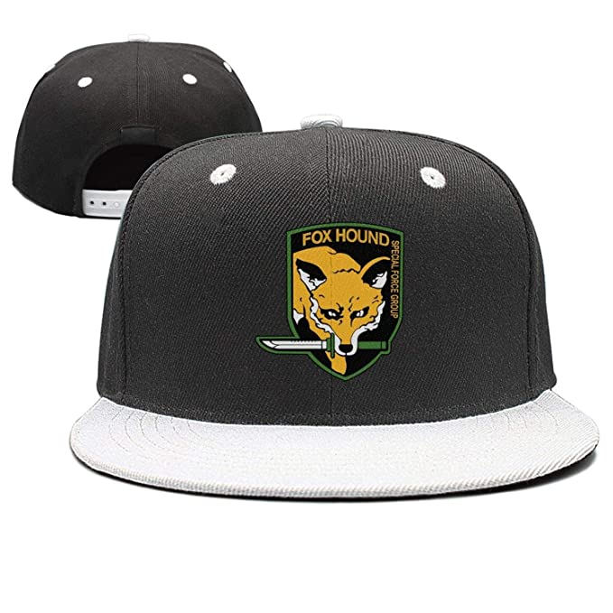 2c52e429da2 Image Unavailable. Image not available for. Color   Foxhound-Metal-Gear-Solid- Flat Bill Adjustable Hat Snap Snapback Cap Men