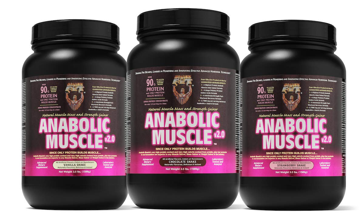 Healthy 'N Fit Anabolic Muscle (Vanilla) 3.5 lb - Natural Muscle Mass and Strength Gainer by Healthy 'N Fit (Image #2)