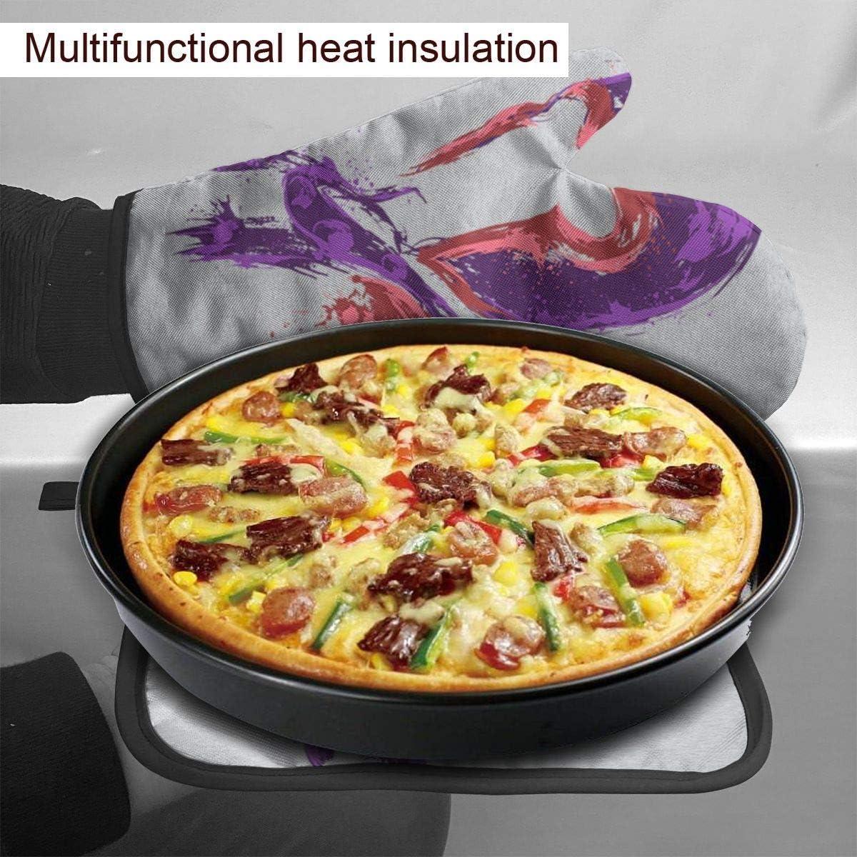 FGHJY X Men Poder del magnetismo Guantes para horno y agarraderas Guantes de cocina resistentes al calor Guantes de cocina