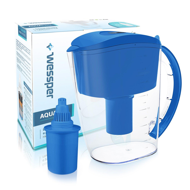 Wessper Caraffa filtrante per acqua alcalina, Acqua alcalina brocca (sostituzione per 1Alkaline) 3,5L – blu Prezzi