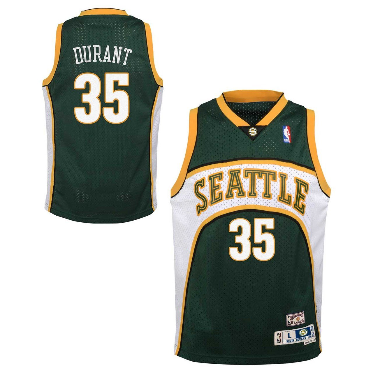 the latest 36c86 82b1a Seattle Supersonics Youth Kevin Durant NBA Soul Swingman Jersey - Green ,