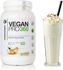 Forzagen Vegan Protein Powder Organic - Dairy Free Protein Powders | Organic Plant Based Protein Powder | Extracted from Quinoa Brown Rice Pea Protein | Amazing Taste | Perfect Vegan Meal Replacement