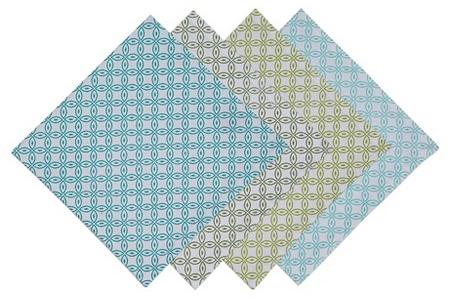Garden Clover Printed Napkin Blue (Set of 4) - Design Imports : Target