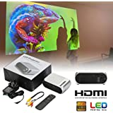 Cewaal HDワイヤレス液晶プロジェクター(EUプラグ)ホームシアタービデオプロジェクターサポート1080p HDMI LEDホームシアタープロジェクタータブレットiPad用スマートフォン屋外屋内ムービー、ビデオゲーム、エンターテインメント