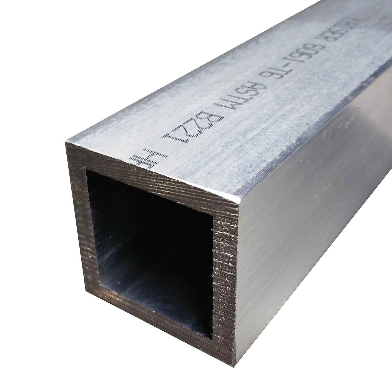 """Alloy 6061 Aluminum Square Tube 2 1//2/"""" x 2 1//2/"""" x 1//4/"""" x 90/"""""""