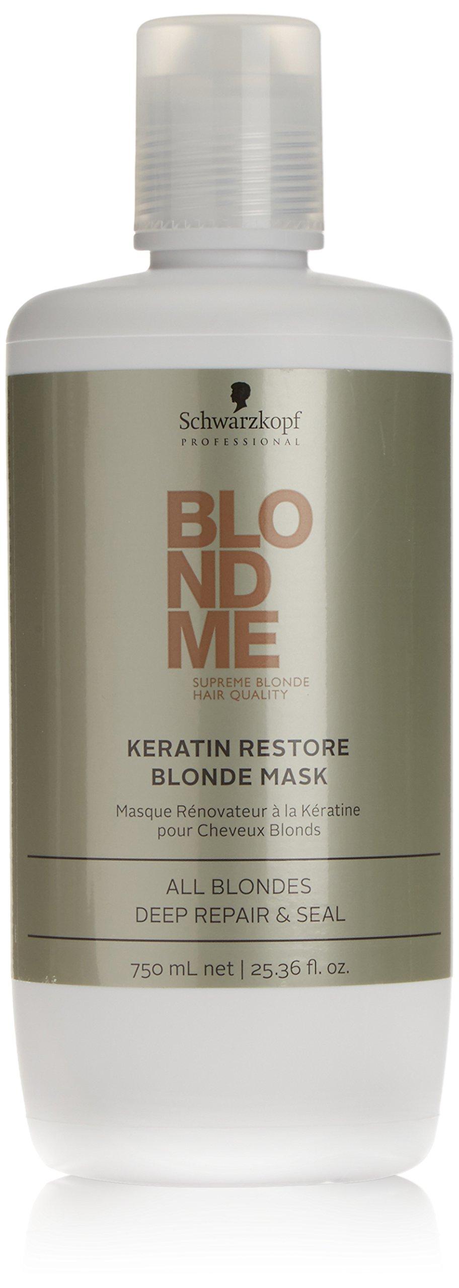 Schwarzkopf Professional Blondme, Keratin Restore Blonde Mask Treatment, 25.3 Ounce
