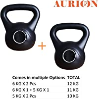AURION Kettle Bells Home Gym 6 kg X 2-12 kg