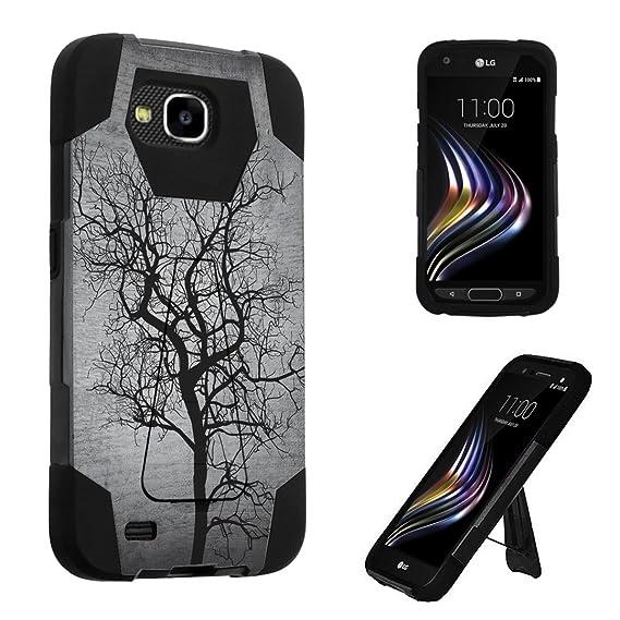 buy popular 67214 eebdf LG X Venture Case, LG X Calibur Case, DuroCase Transforma Kickstand Bumper  Case for LG X Venture / LG X Calibur / LG LV9 - (Black Tree)