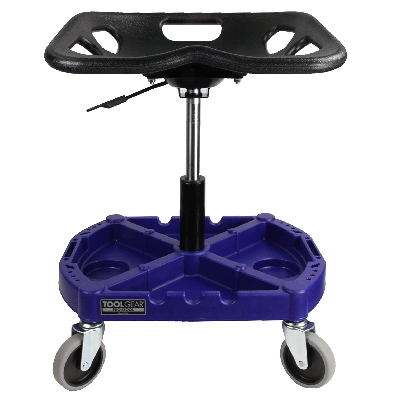 Pneumatic Roller-Seat Shop Cart by Blue Base Boomerang Tool Gear ProStool