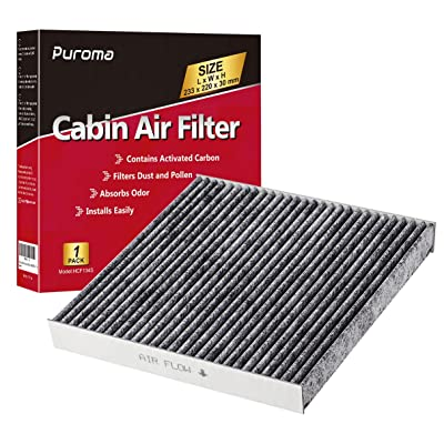 Puroma 1 Pack Cabin Air Filter with Activated Carbon, Replacement for CP134, CF10134, Honda & Acura, Civic, CR-V, Odyssey, CSX, ILX, MDX, RDX, AT134: Automotive