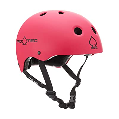 Pro-Tec Classic Certified Skate Helmet (Matte Pink, Large) : Sports & Outdoors