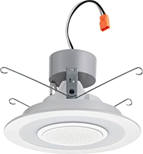 """Lithonia Lighting 6SL RD 07LM 27K 90CRI MW M66"""" Dimmable LED Retrofit Module with Integrated Bluetooth Speaker, 2700K
