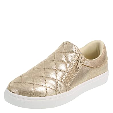 fbfc4fa24266 Brash Gold Girls  Fetch Quilted Slip-On Casual 5 Regular