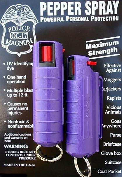Amazon.com: 2 Policía Magnum Mace pulverizador de pimienta ...