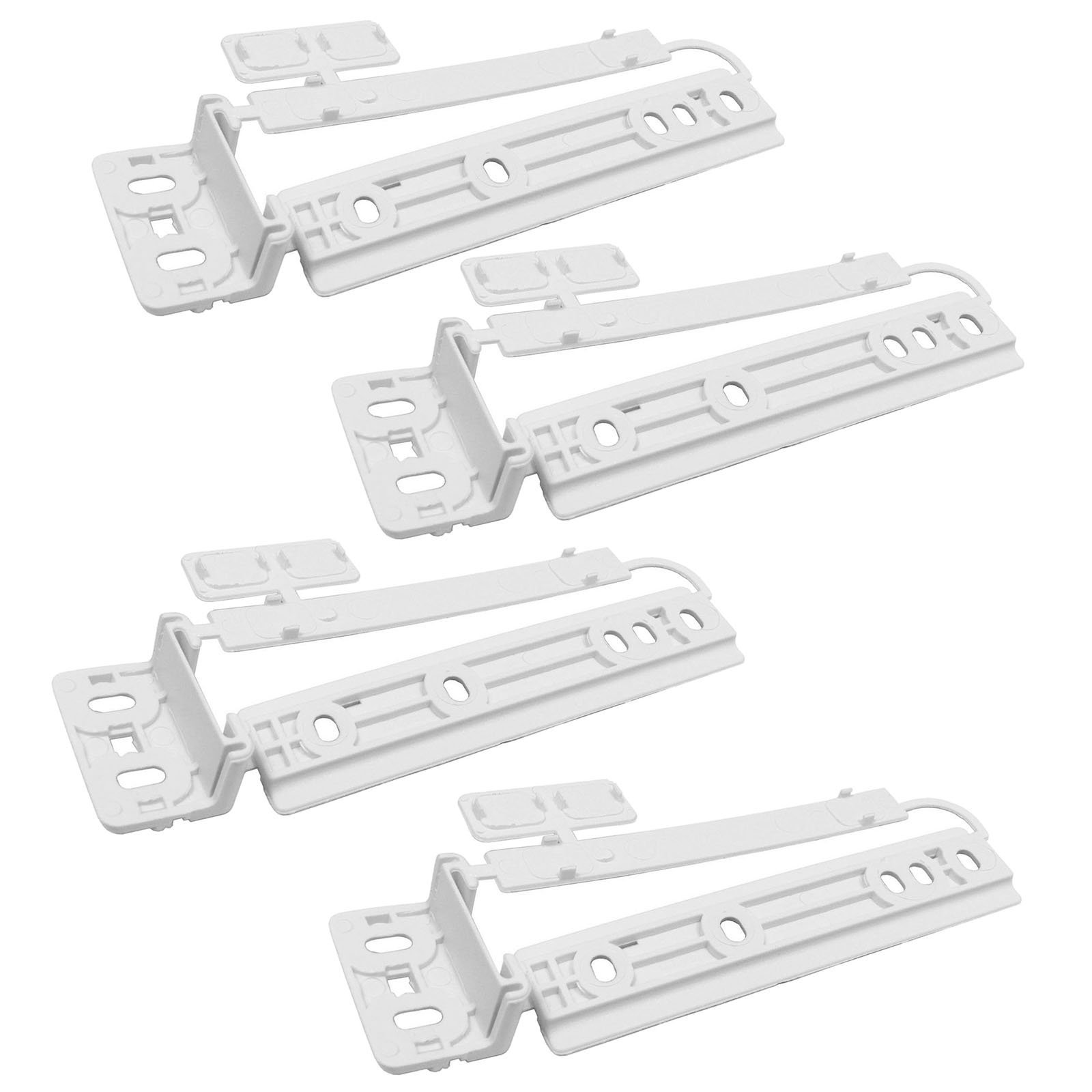 Ikea FROSTIG FRYSA Fridge Freezer Door Mounting Brackets Plastic Slide Fixing Kit (4 Pack)