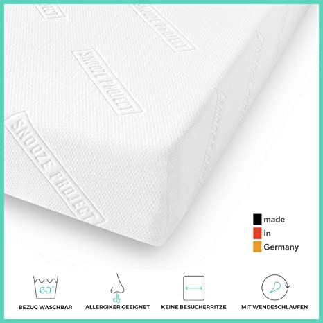 Snooze Project Essential Matratze 150 X 200 Cm Härtegrad H2 H3 Mittel Hart Kaltschaum Rg 30 Schaumstoff Allergiker Geeignet Und öko Tex 100