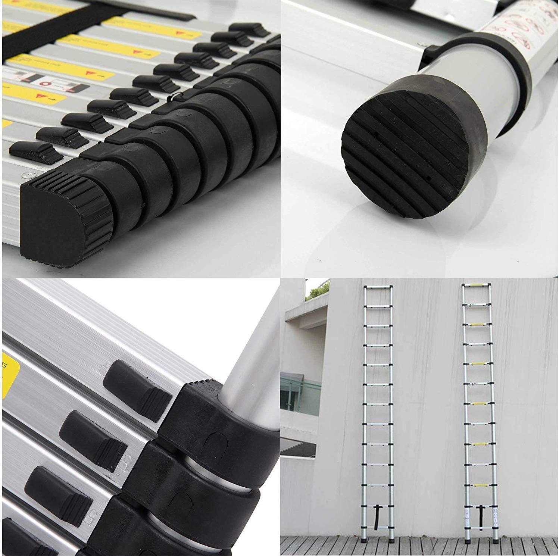 Telescoping Ladders,EN131Standards Multi-Purpose Folding Aluminum Extension Ladder(10.5Ft/3.2M) - -