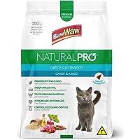 Ração Baw Waw Natural Pro para gatos castrados sabor Carne e Arroz - 2,5kg