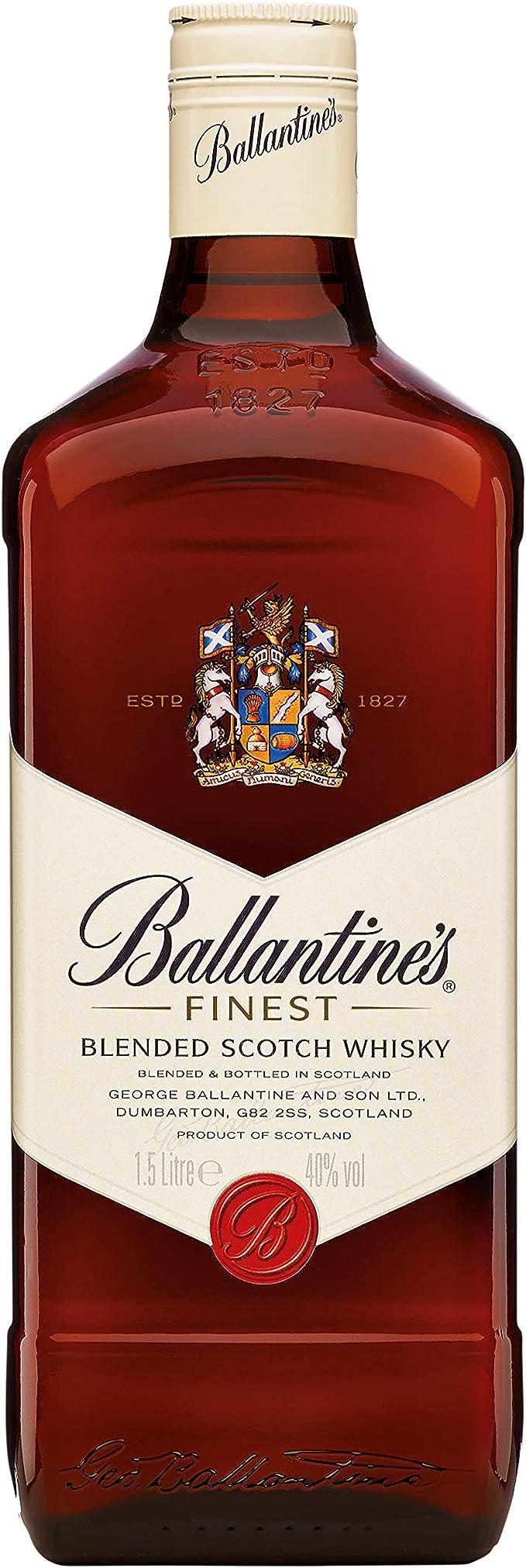 Ballantines Finest Whisky Escocés de Mezcla - 1500 ml