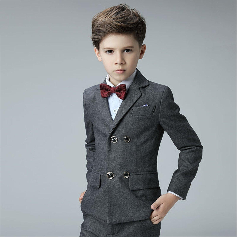 Amazon.com: Yanlu Boy\'s Suits With Double Breasted Jacket, Pants ...