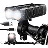 victagen USB Rechargeable Bike Light,Super Bright 2400 Lumens and Free Bike Tail Light Helmet Light, Waterproof Bicycle…